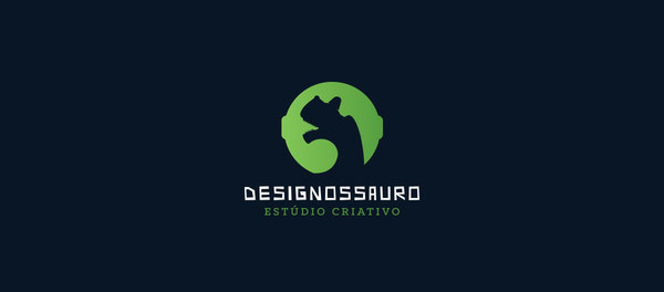 30个恐龙元素创意logo设计 欣赏-第19张
