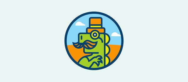 30个恐龙元素创意logo设计 欣赏-第7张