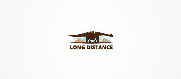 30个恐龙元素创意logo设计 欣赏-第9张