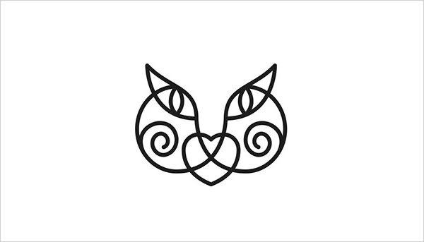 猫咪为元素的Logo设计 欣赏-第9张