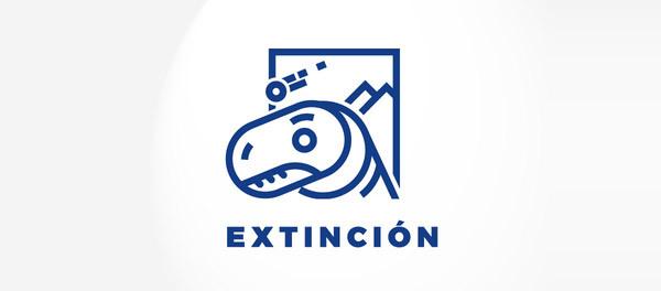 30个恐龙元素创意logo设计 欣赏-第29张