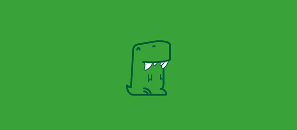 30个恐龙元素创意logo设计 欣赏-第10张