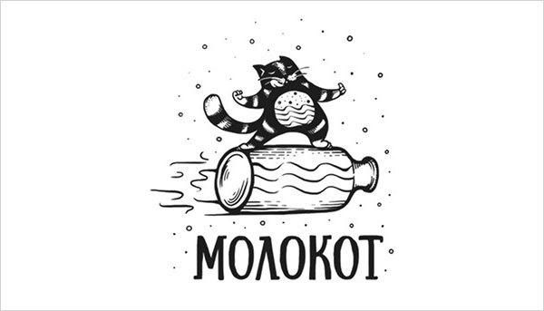 猫咪为元素的Logo设计 欣赏-第17张