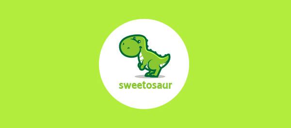 30个恐龙元素创意logo设计 欣赏-第27张