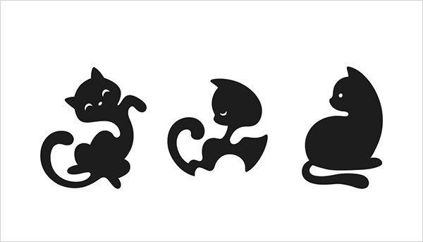 猫咪为元素的Logo设计 欣赏-第15张