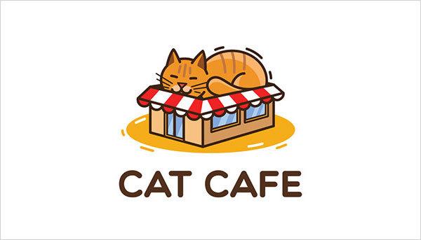 猫咪为元素的Logo设计 欣赏-第16张