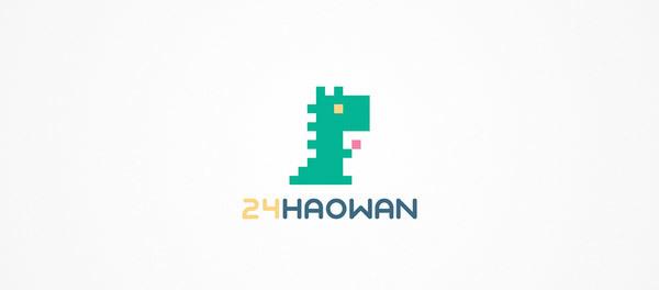 30个恐龙元素创意logo设计 欣赏-第22张