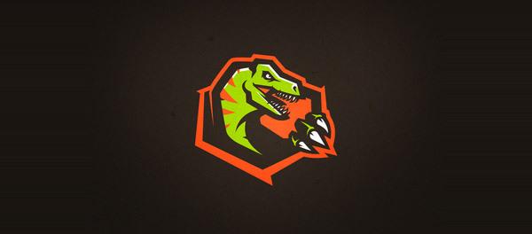 30个恐龙元素创意logo设计 欣赏-第12张