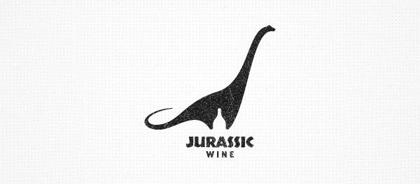 30个恐龙元素创意logo设计 欣赏-第3张
