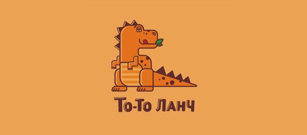 30个恐龙元素创意logo设计 欣赏-第18张