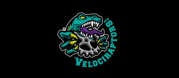 30个恐龙元素创意logo设计 欣赏-第21张