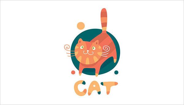 猫咪为元素的Logo设计 欣赏-第7张