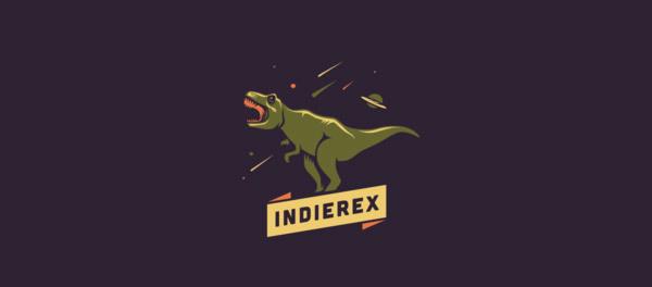 30个恐龙元素创意logo设计 欣赏-第15张