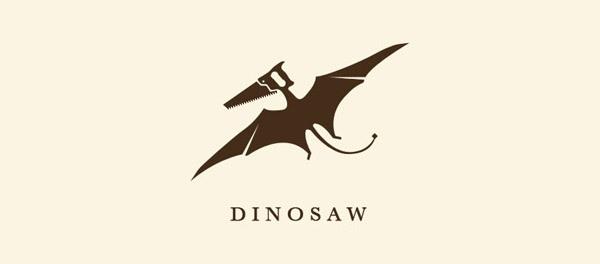 30个恐龙元素创意logo设计 欣赏-第5张