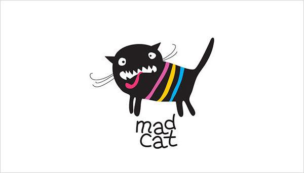 猫咪为元素的Logo设计 欣赏-第5张
