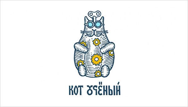 猫咪为元素的Logo设计 欣赏-第10张