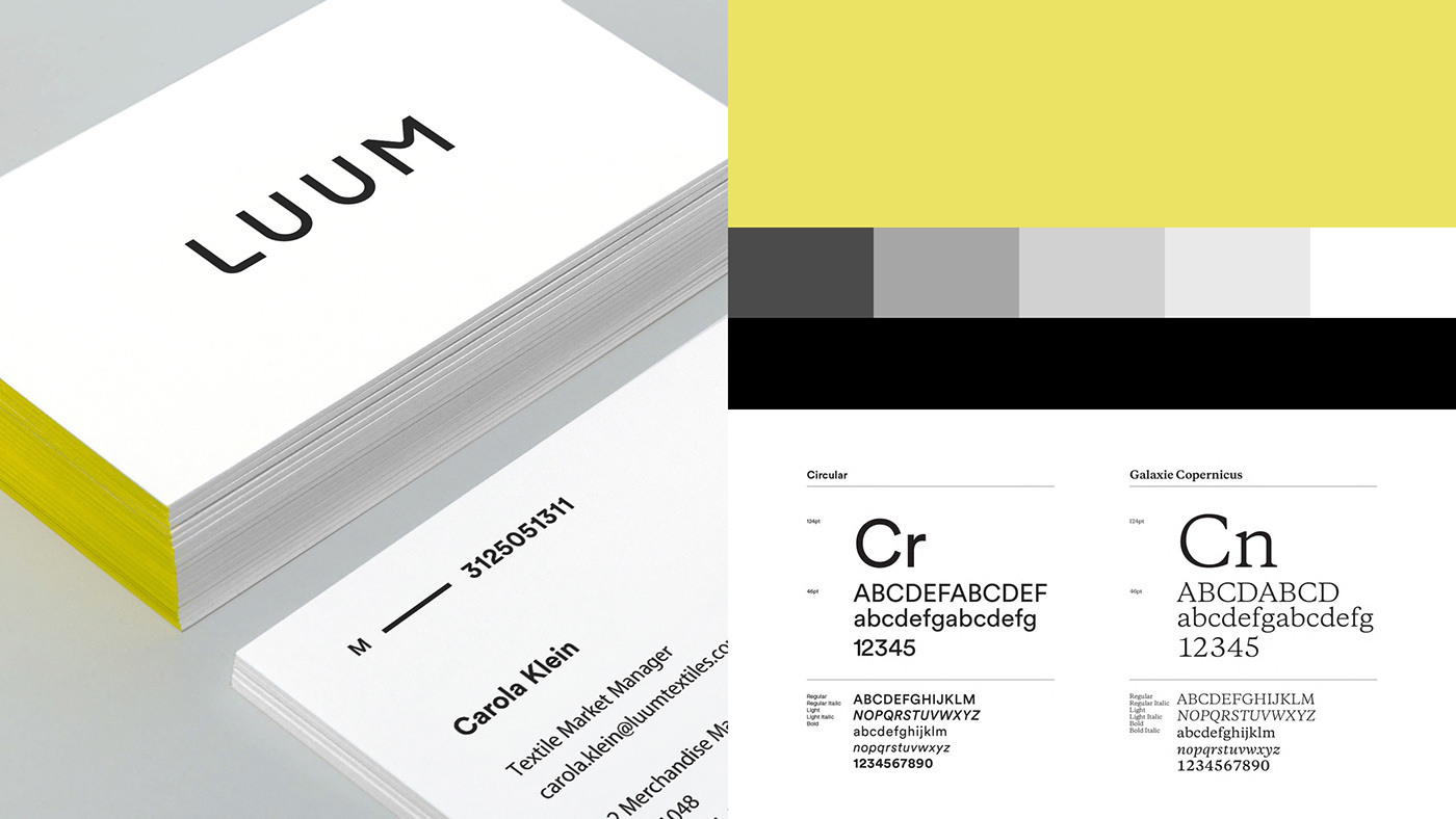 Luum纺织店品牌形象视觉设计 欣赏-第7张
