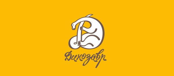 30个恐龙元素创意logo设计 欣赏-第6张