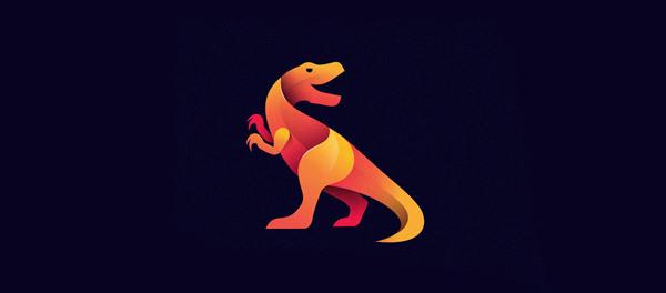 30个恐龙元素创意logo设计 欣赏-第1张