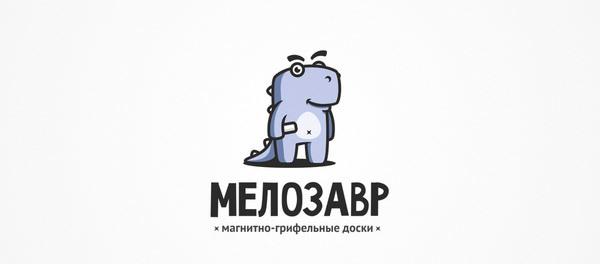 30个恐龙元素创意logo设计 欣赏-第26张