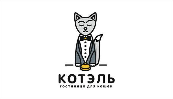 猫咪为元素的Logo设计 欣赏-第3张