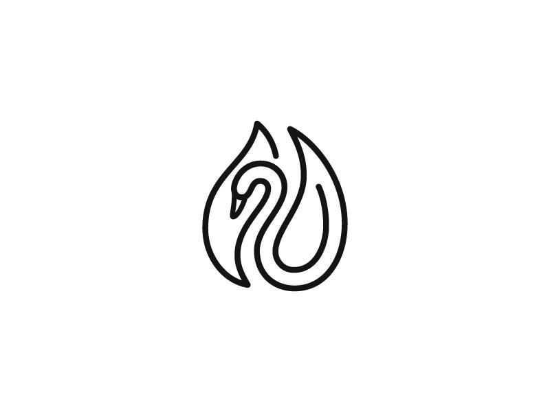 天鹅元素logo 欣赏-第9张