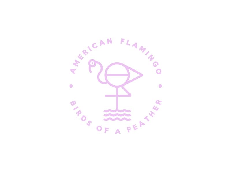 火烈鸟元素logo 欣赏-第1张
