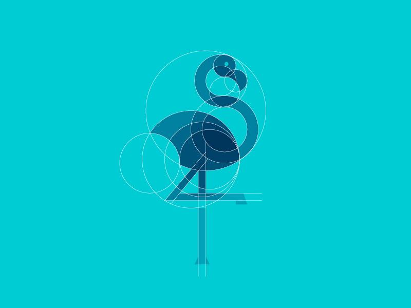 火烈鸟元素logo 欣赏-第3张