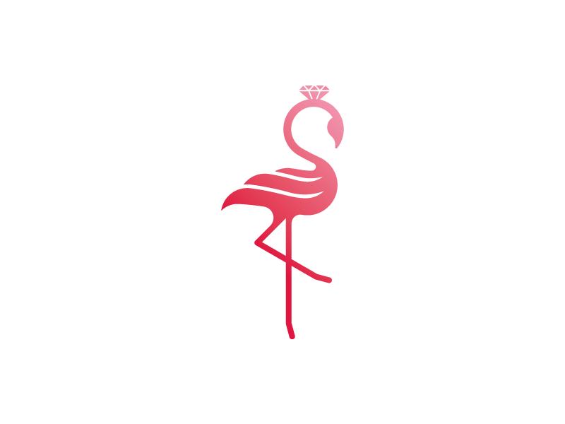 火烈鸟元素logo 欣赏-第13张