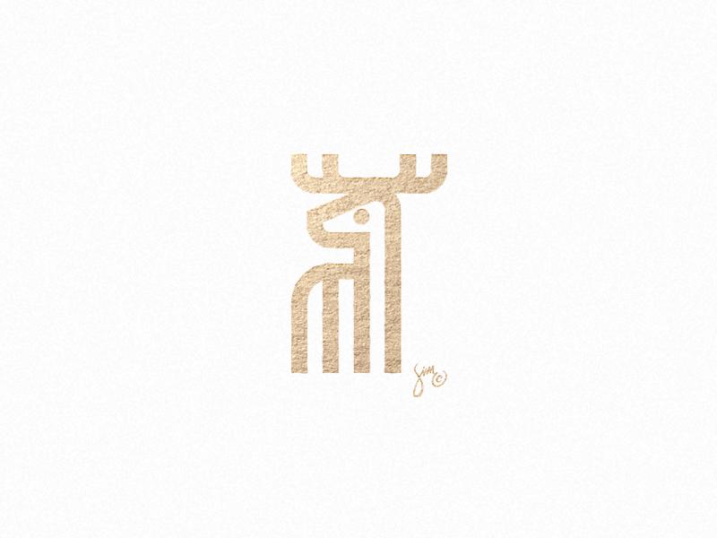 鹿元素logo 欣赏-第11张