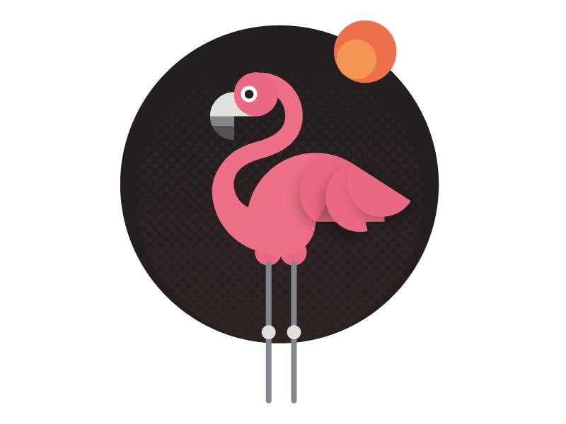火烈鸟元素logo 欣赏-第7张