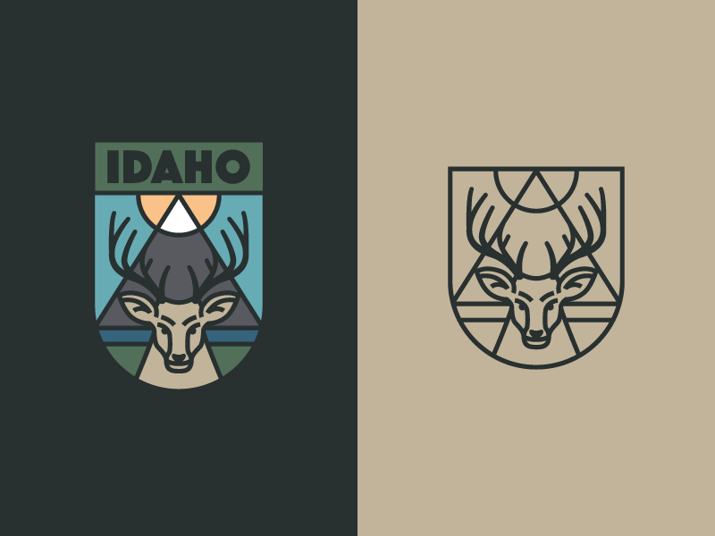 鹿元素logo 欣赏-第29张