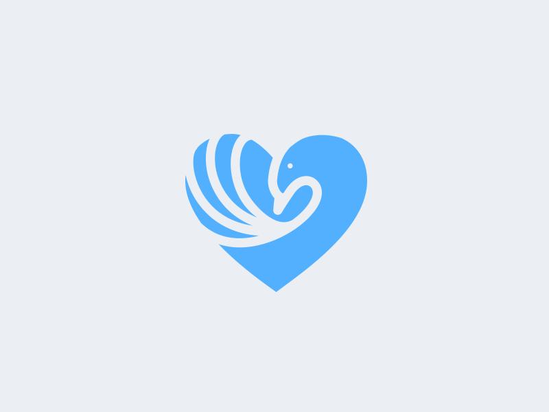 天鹅元素logo 欣赏-第5张