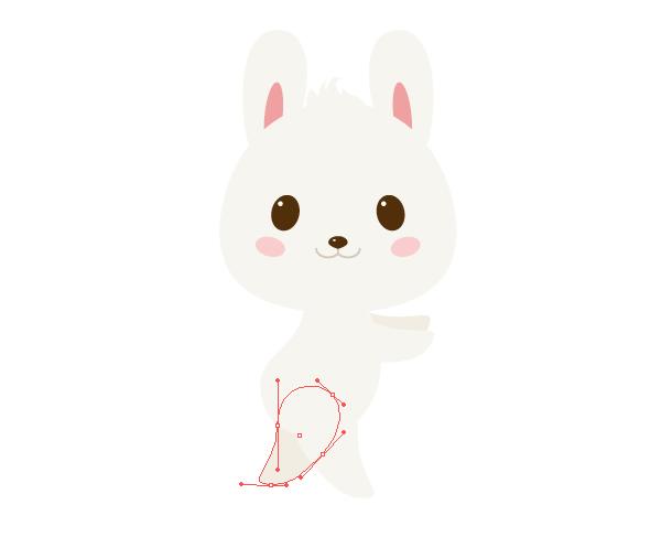 手把手教你用Ai绘制拿着郁金香的可爱兔子 教程-第17张