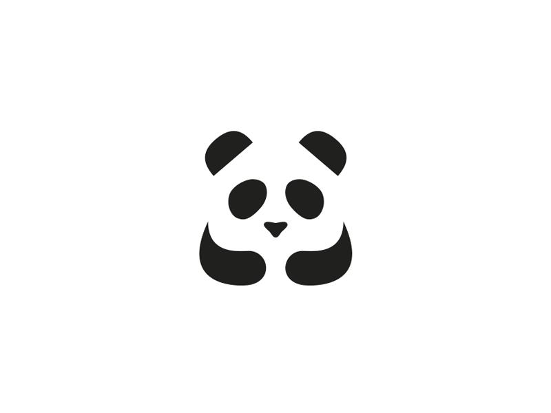 熊猫元素logo 欣赏-第4张