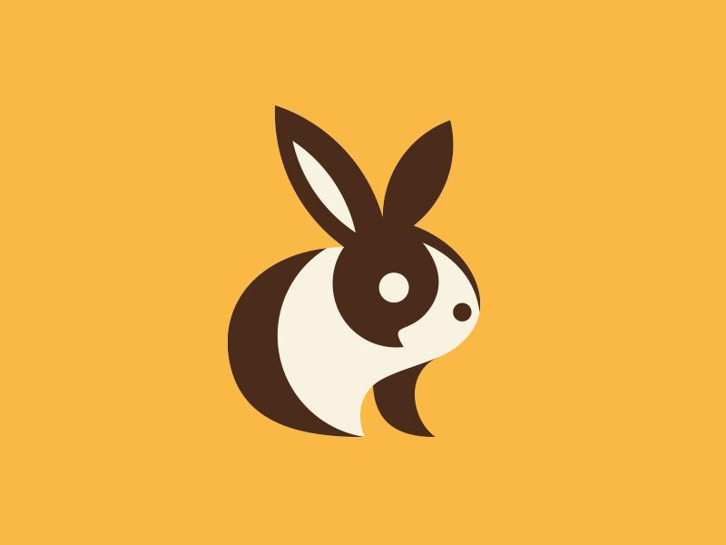 兔子元素logo 欣赏-第4张