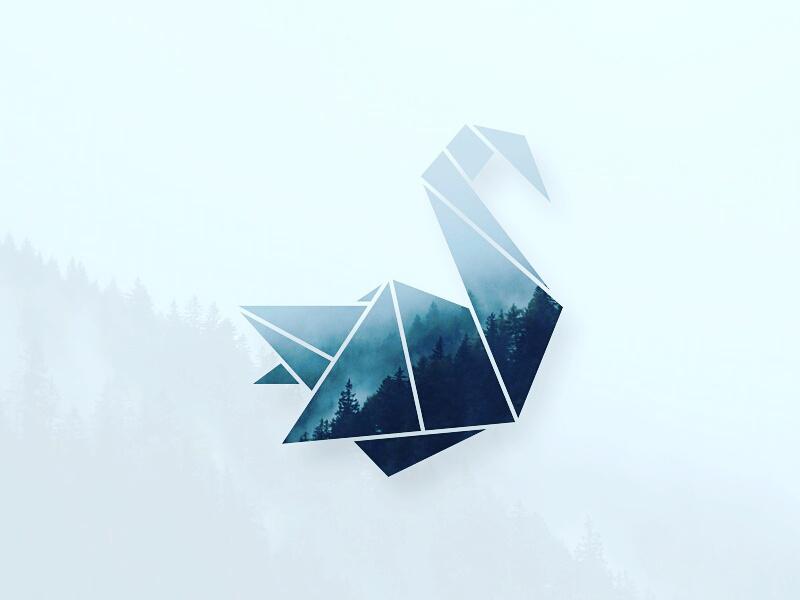 天鹅元素logo 欣赏-第4张