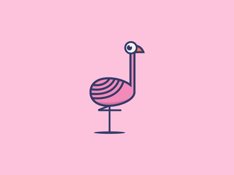火烈鸟元素logo 欣赏-第4张