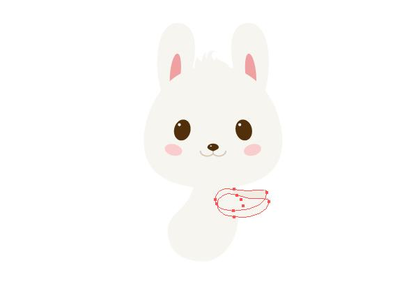 手把手教你用Ai绘制拿着郁金香的可爱兔子 教程-第15张