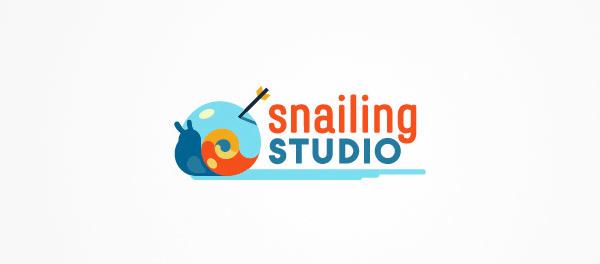 蜗牛元素logo 欣赏-第2张