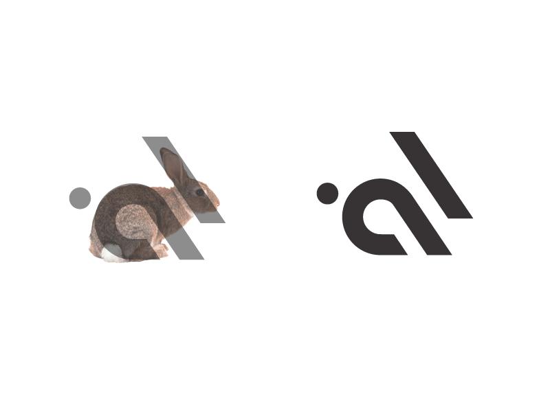 兔子元素logo 欣赏-第1张