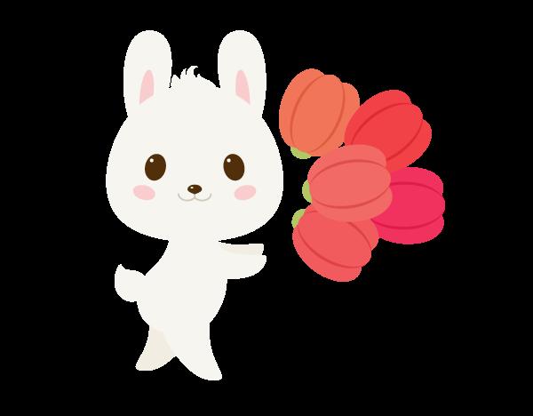 手把手教你用Ai绘制拿着郁金香的可爱兔子 教程-第23张
