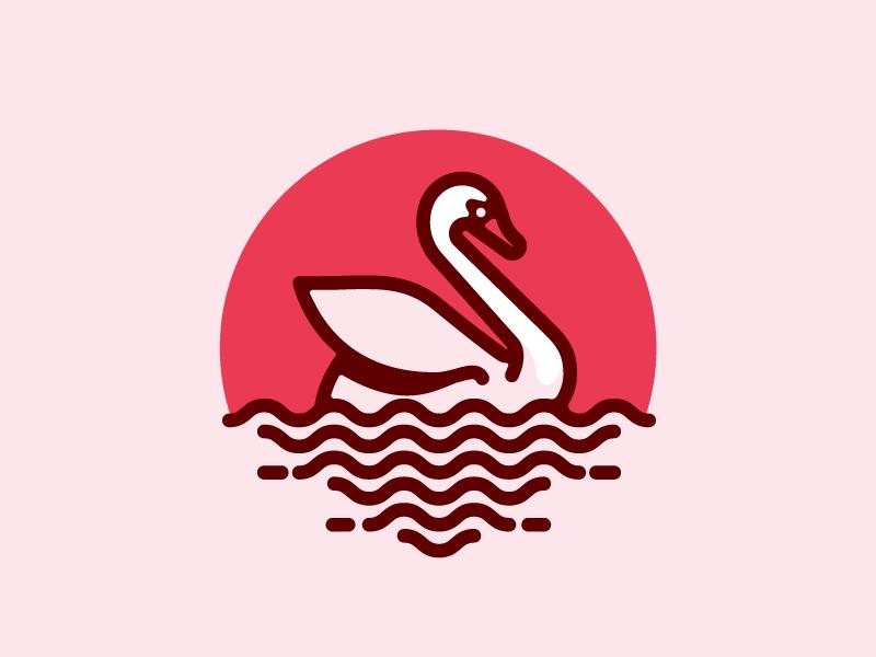 天鹅元素logo 欣赏-第38张