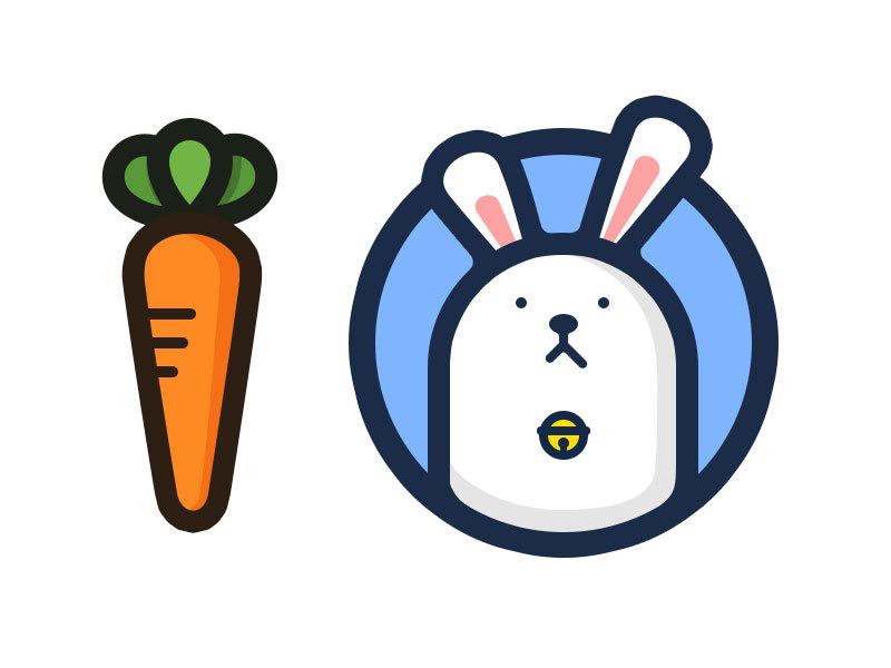 兔子元素logo 欣赏-第37张