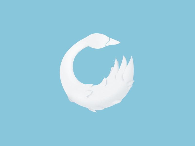 天鹅元素logo 欣赏-第31张