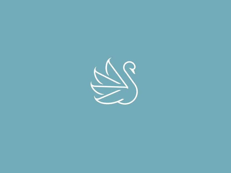 天鹅元素logo 欣赏-第12张