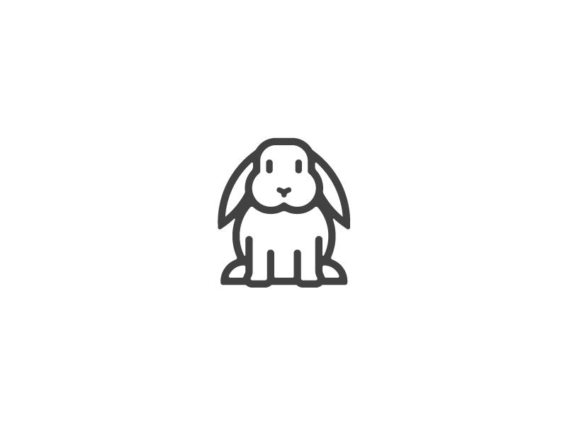 兔子元素logo 欣赏-第13张