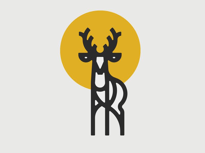 鹿元素logo 欣赏-第16张