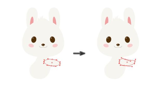 手把手教你用Ai绘制拿着郁金香的可爱兔子 教程-第14张