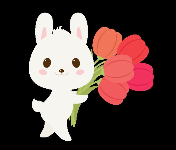 手把手教你用Ai绘制拿着郁金香的可爱兔子 教程-第27张
